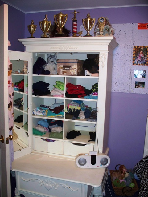 organized kids armoire