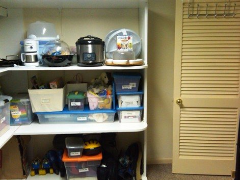organized storage room